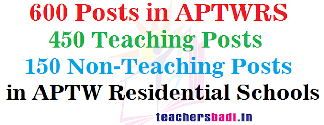 Teaching,Non-Teaching Posts,APTW Residential Schools