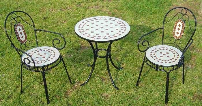 1 mesas 2 sillones forja terraza, mesas sillas pequeñas jardin