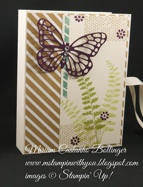 Miriam Castanho-Bollinger, #mstampinwithyou, stampin up, demonstrator, gift box, lullaby dsp, butterfly basics stamp set, butterflies thinlits die, su