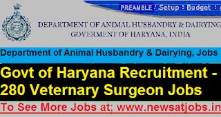 Govt-of-Haryana-280-Veternary-Surgeon-Recruitment-2017