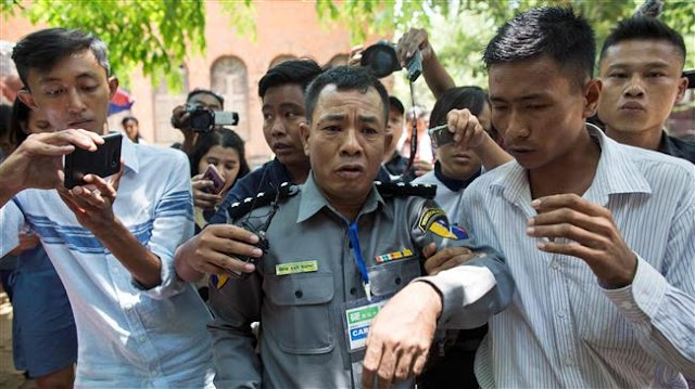 Myanmar's whistleblowing policeman sentenced to jail