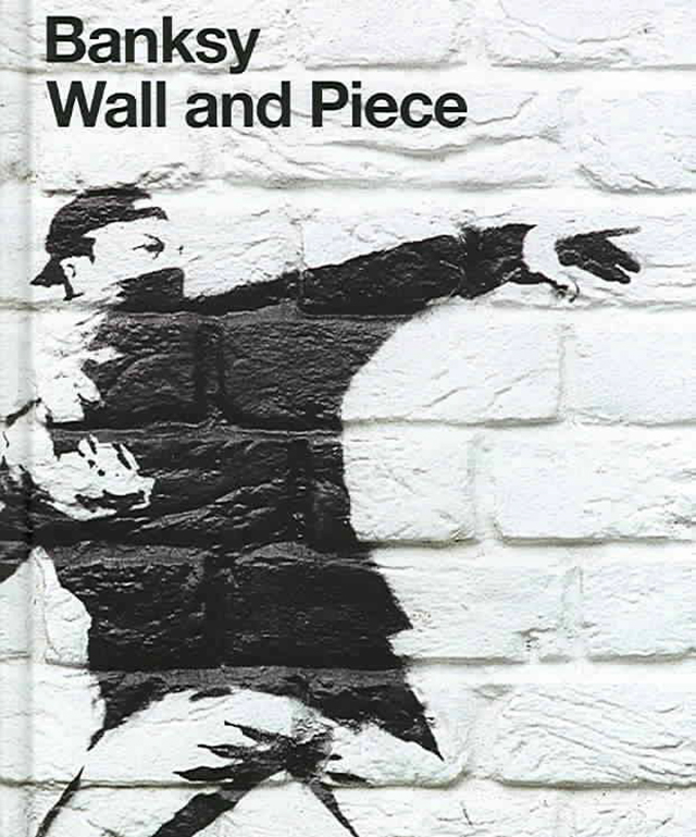 Street Artist Banksy's Book Wall And Piece