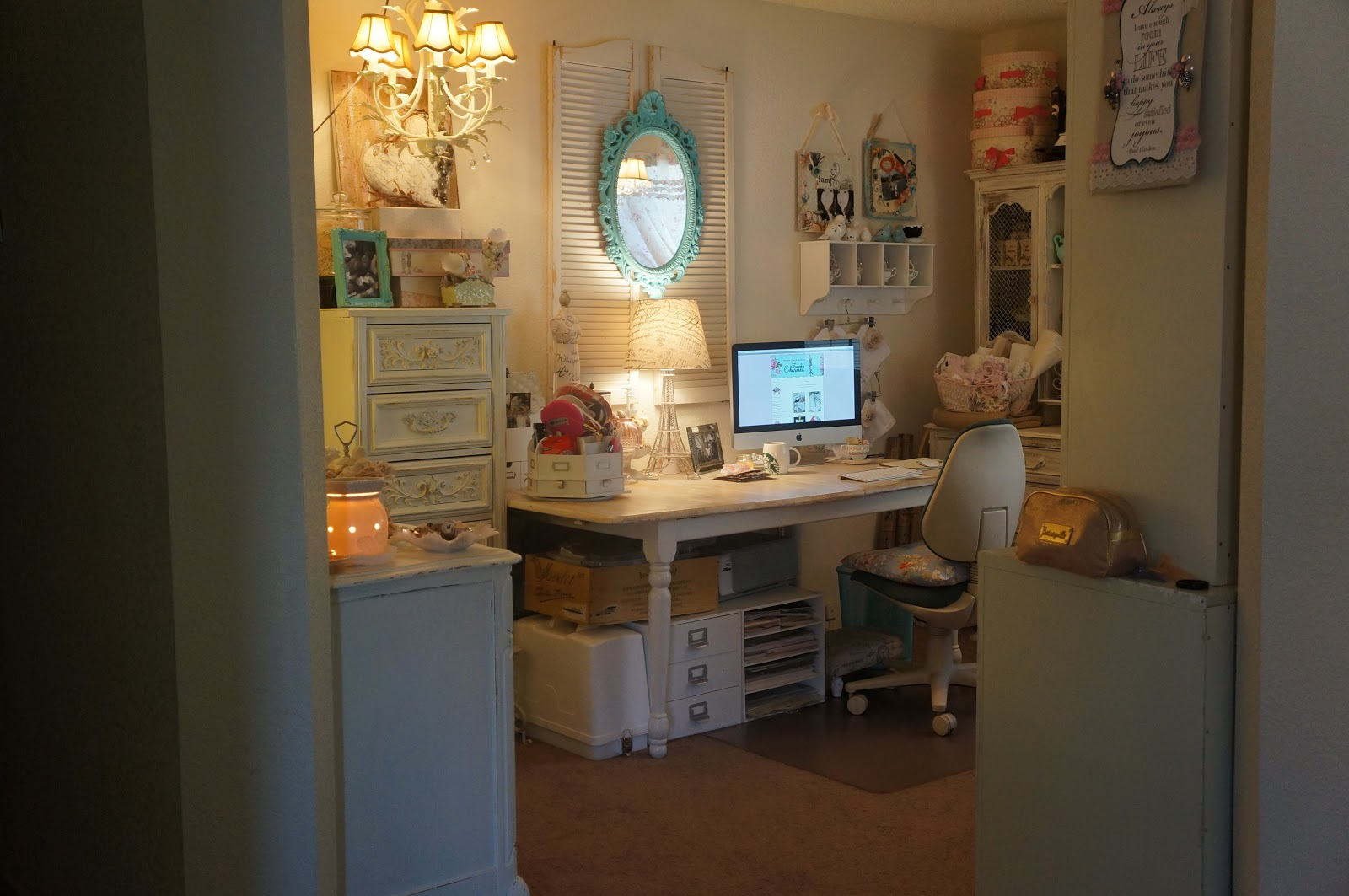Rose n Papers: My Atelier! Vintage chic style craft room!