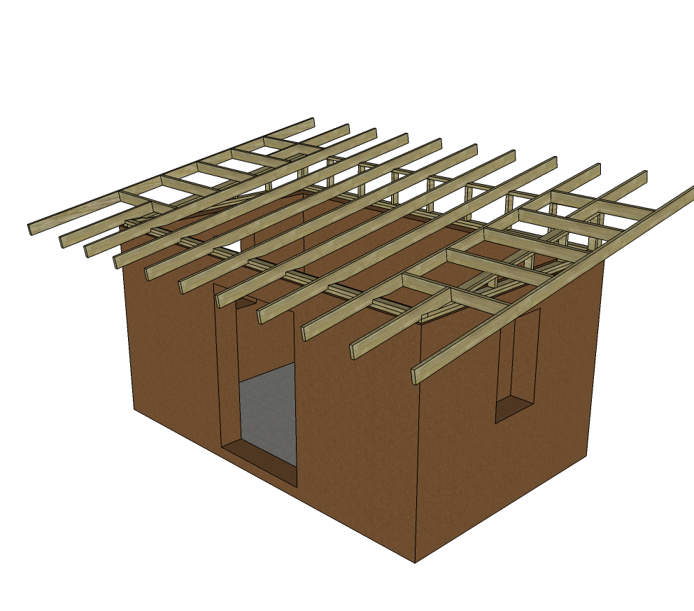 T Brick Shed Preliminary Roof Design