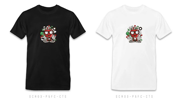 SCR03-P5FC-CTS Cartoon T Shirt Design, Custom T Shirt Printing