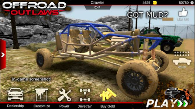 Game Offroad Android: Offroad Outlaws Mod Apk