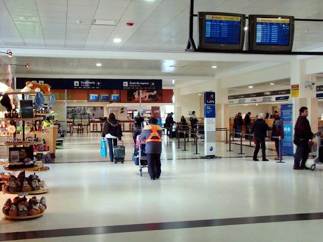 Estrutura e serviços do aeroporto de Bariloche