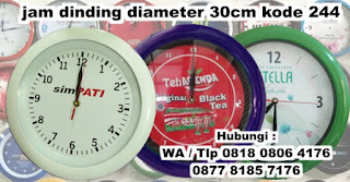 souvenir jam dinding dengan diameter 30cm, Jam Dinding Promosi, Souvenir Diameter 30cm