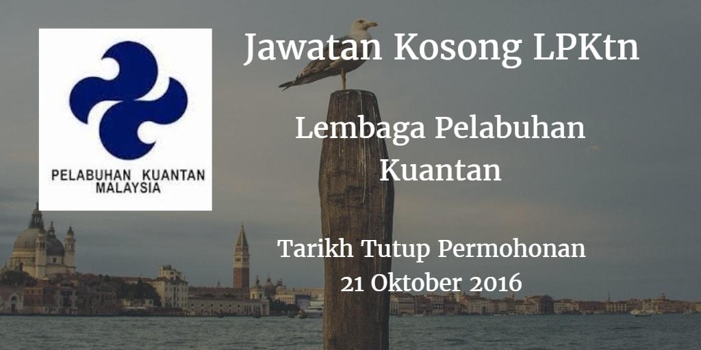 Jawatan Kosong LPKtn 21 Oktober 2016
