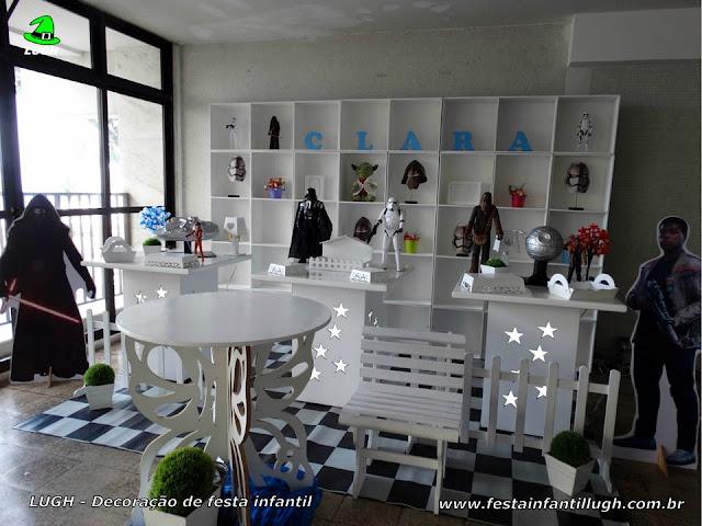 Decoração festa de aniversário Star Wars - Provençal simples com escaninhos - Nichos