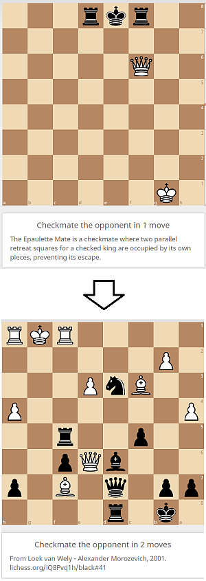 lichess.org, practice, checkmate-patterns, Epaulette Mate