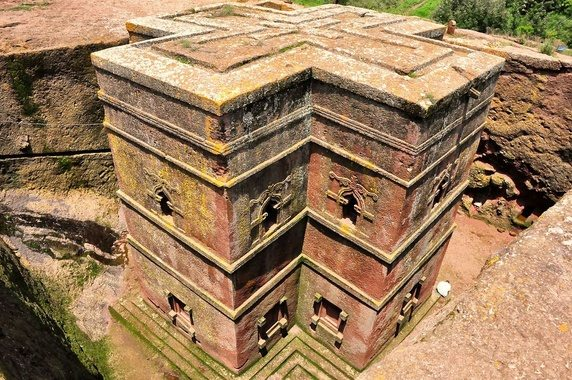 Rock- Hewn churches, Lalibela in Ethiopia