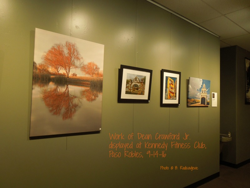 Dean Crawford Jr. Work on Display at Kennedy Fitness, Paso Robles