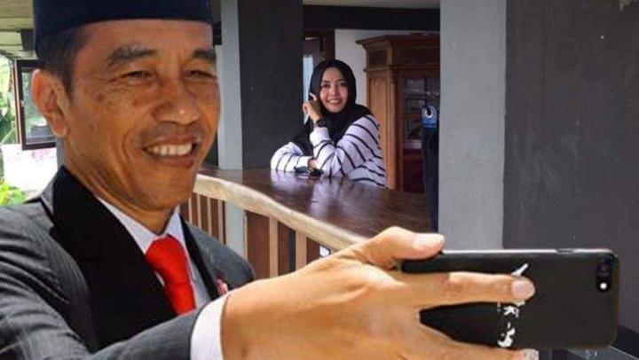 Cara Membuat Foto Selfi Bareng Presiden Jokowi Agar Terlihat Kekinian