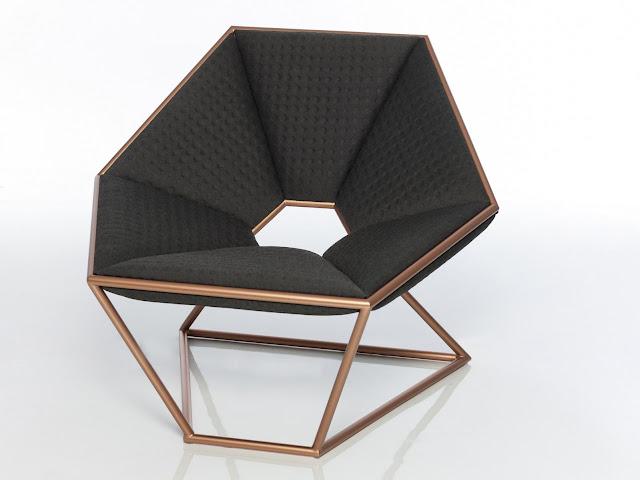 Stainless Steel Armchair Hexa By Amura Design