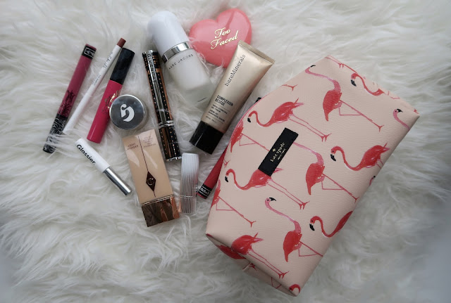 My current makeup bag contents by Laura Lewis