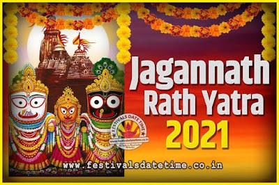 2021 Jagannath Rath Yatra Pooja Date and Time, 2021 Puri Ratha Yatra Calendar