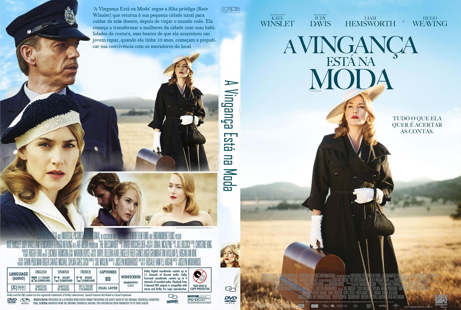 A Vingança Está na Moda DVD-R Oficial A Vingan C3 A7a Est C3 A1 Na Moda   Capa Filme DVD