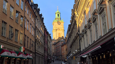 View up Storkyrkobrinken toward Storkyrkan.