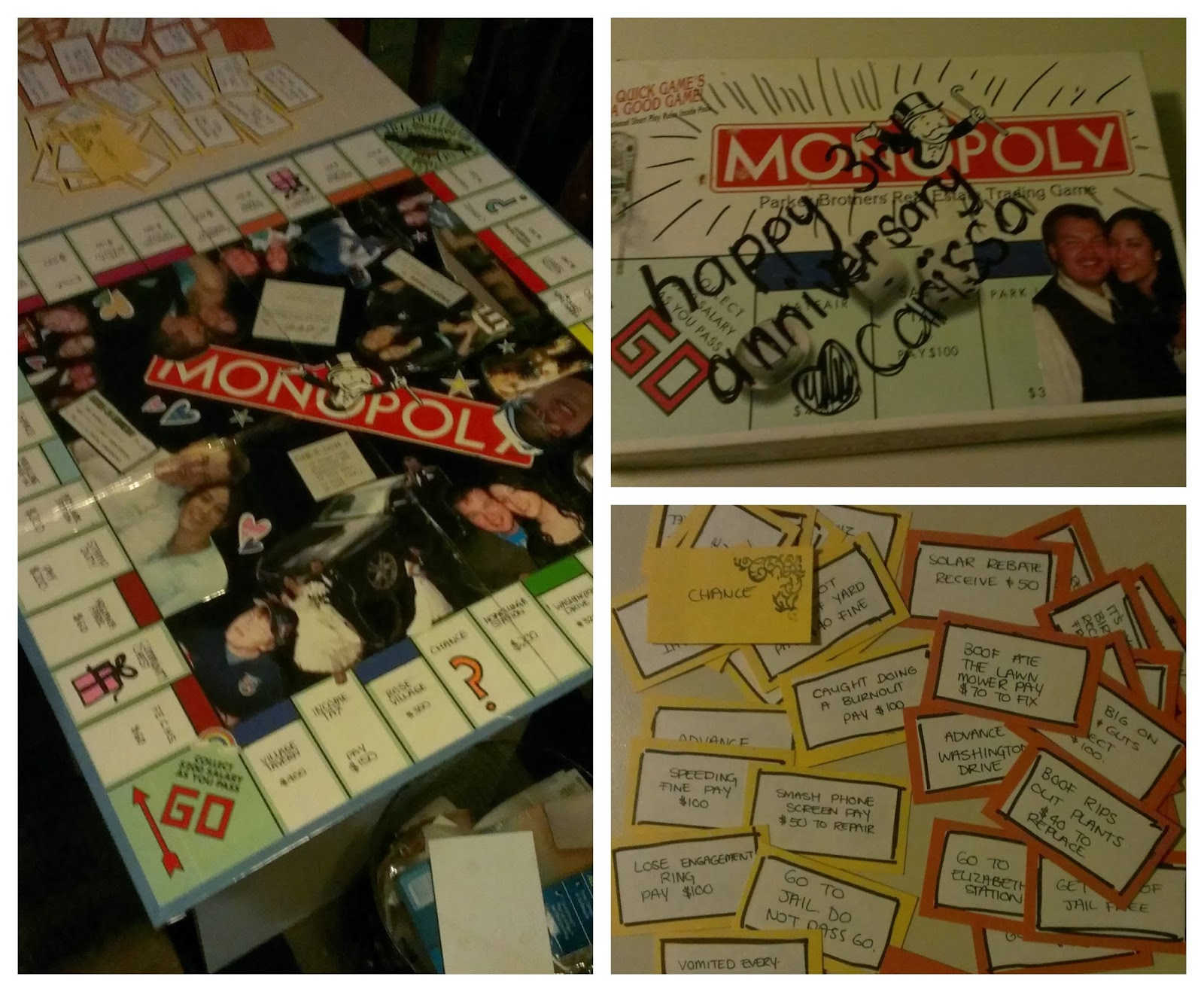 upcycledlove personalized monopoly board