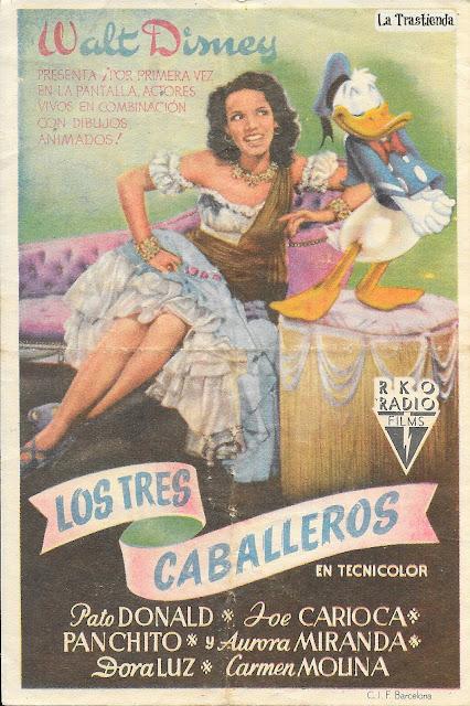 Los Tres Caballeros - Programa de Mano - Walt Disney (1944)
