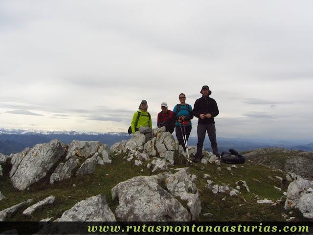 Cima del Pico Mua o Salgar, en el Sueve