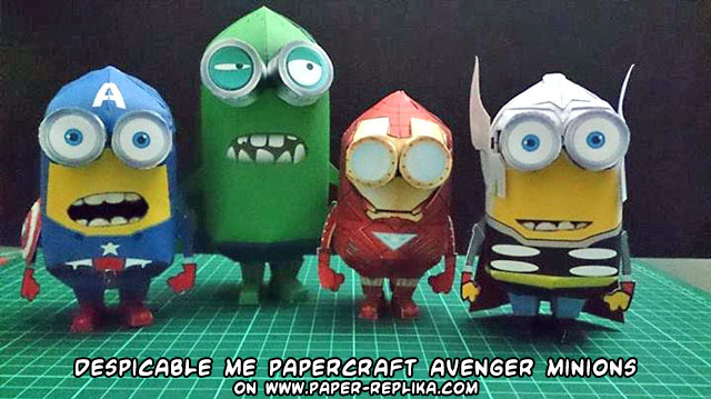 Ninjatoes' papercraft weblog: Papercraft Despicable Me ...