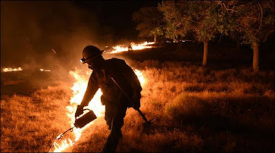 California Forest Fire Spreads