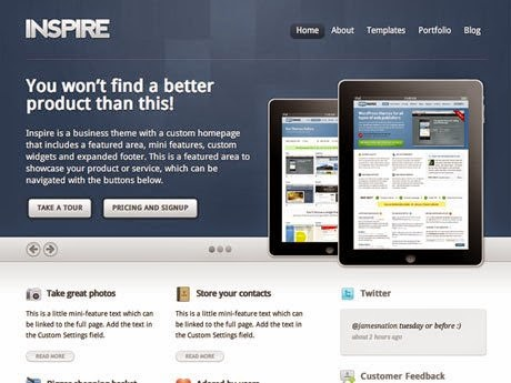 Download WooThemes Inspire For WordPress Theme Free | 72Themes
