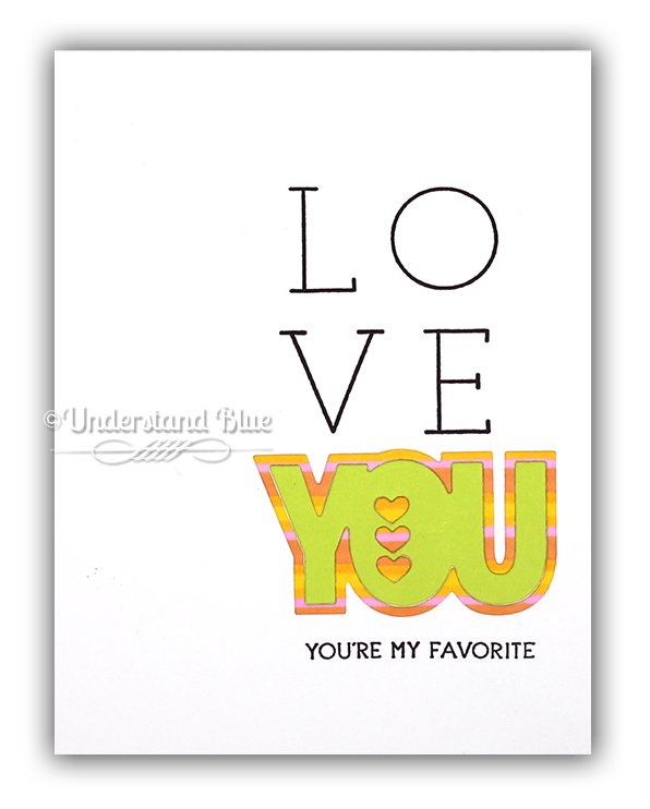 Love You Card by Understand Blue