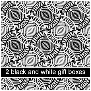 a pair of black and white gift boxes to make