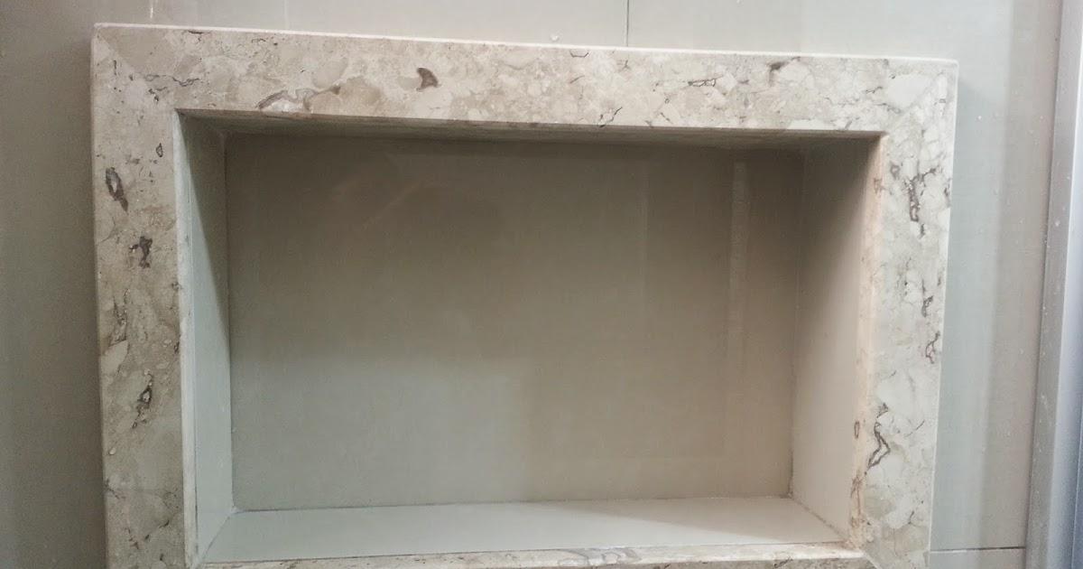 detalhes do NICHO do banheiro  Meu novo Lar # Acabamento Do Nicho Do Banheiro
