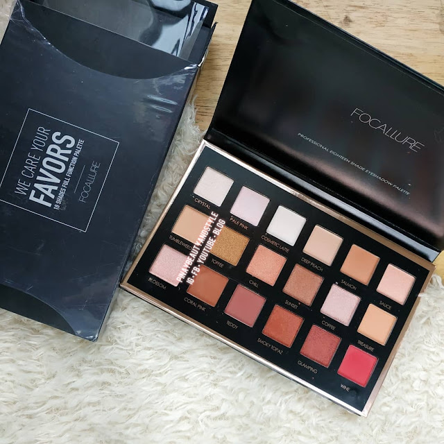 Focallure eyeshadow review swatches