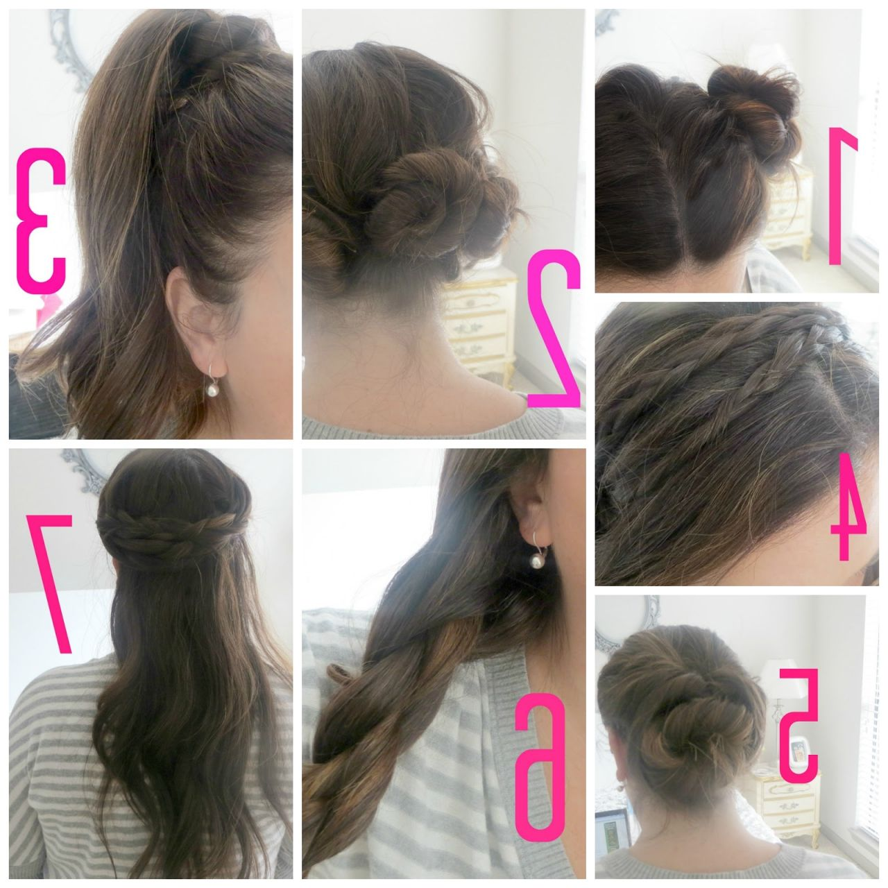simple hairstyles step by step for long hair   top model