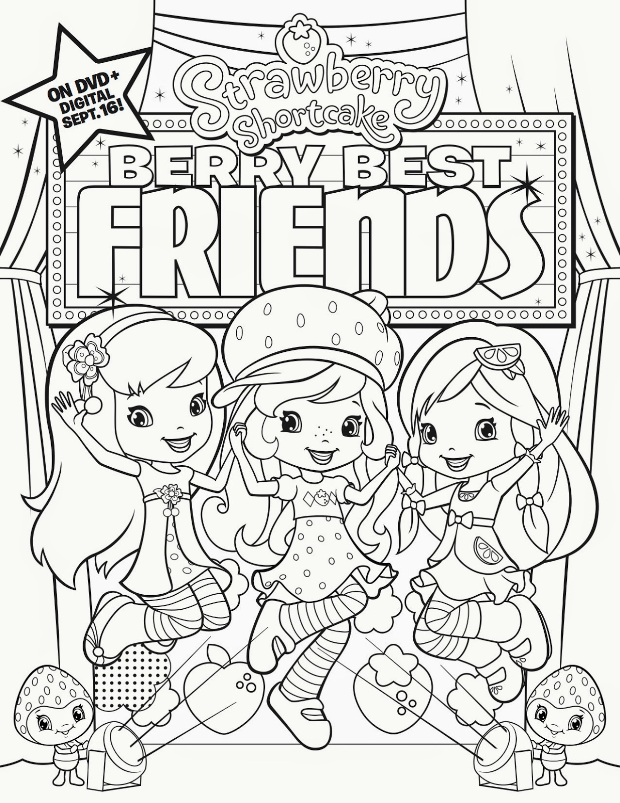 free coloring pages, Strawberry Shortcake