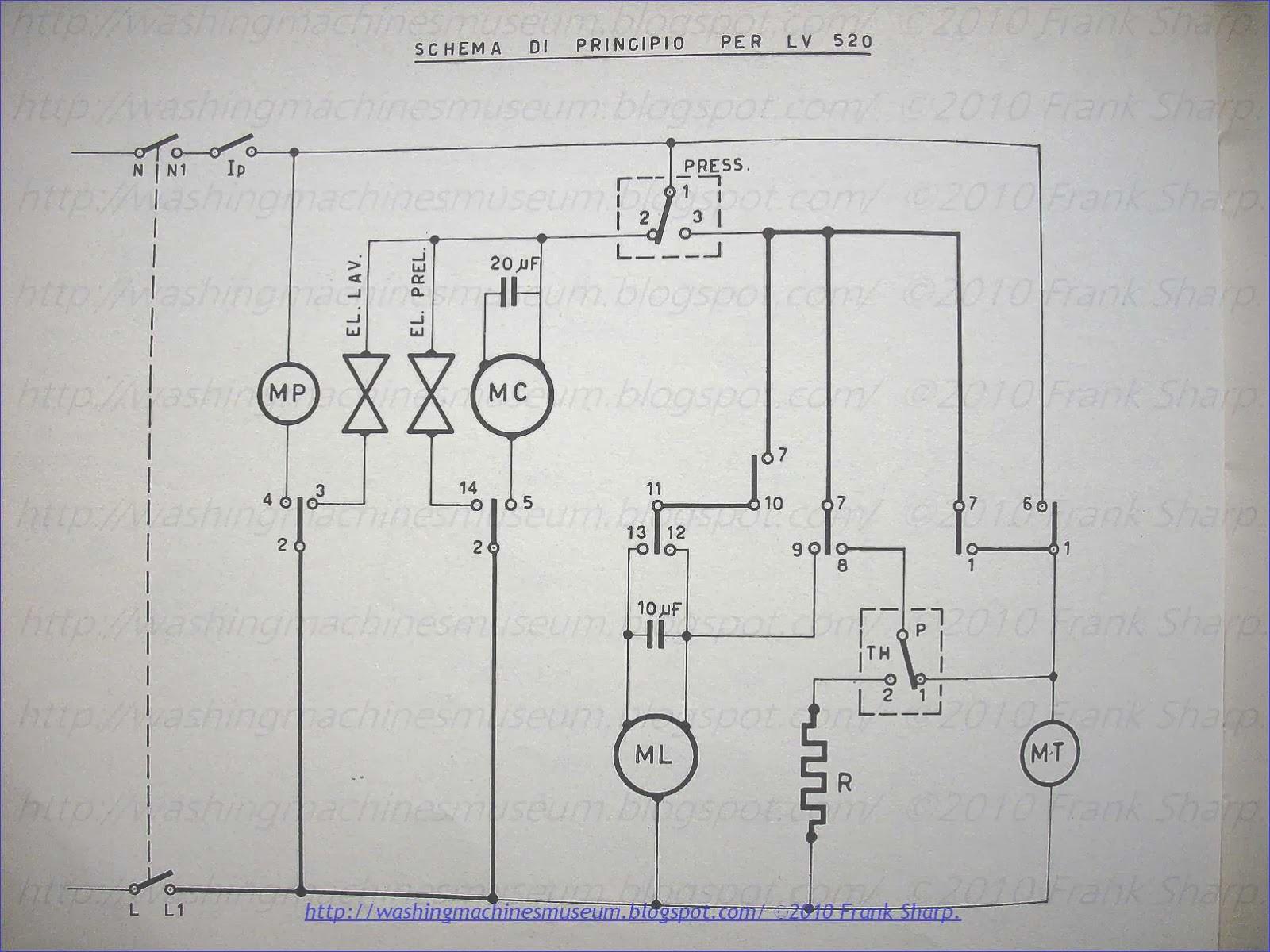 semi automatic washing machine wiring diagram