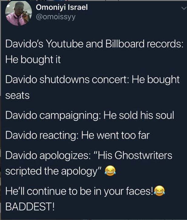 Davido: I've Said It Before and I'll Say It Again—Haters Suck