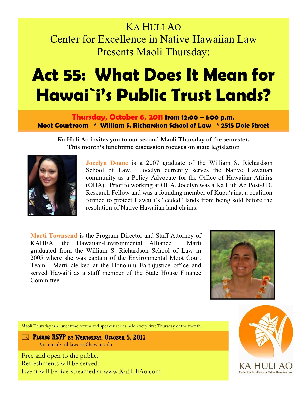 Ka Huli Ao: Center for Excellence in Native Hawaiian Law