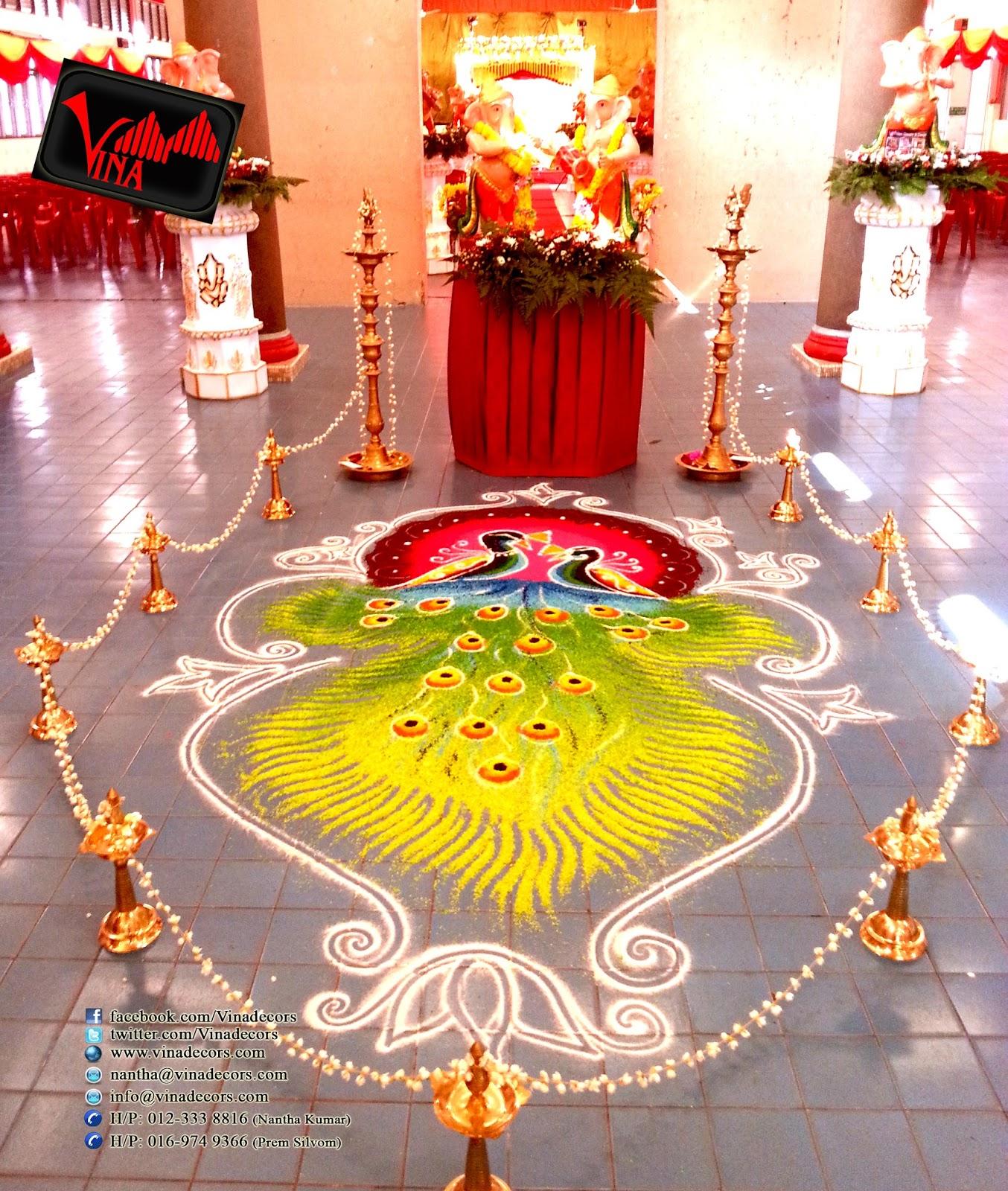 Wedding Kolam Images: Vina Canopy & Decor: COLLECTION OF RANGOLI KOLAM BY VINA
