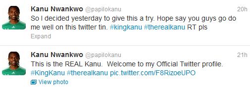 Untitled Trending: Nwankwo Kanu finally joins Twitter