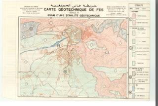 Carte Géotechnique de Fès (Essai d'une zonalite Géotechnique)  الخريطة الجيوتقنية لفاس ( النطاقات الجيوتقنية )