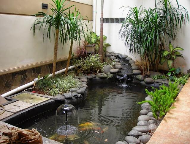 gambar desain taman basah minimalis dalam rumah