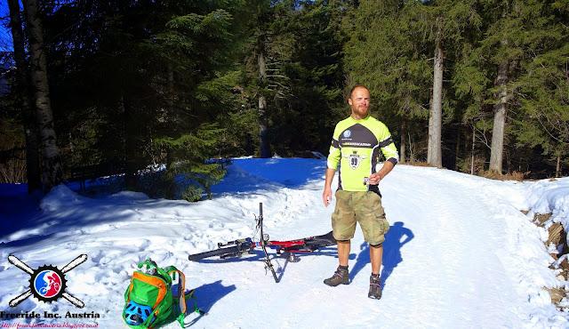 Mountainbike Befahrung Aschenbrenner im Winter