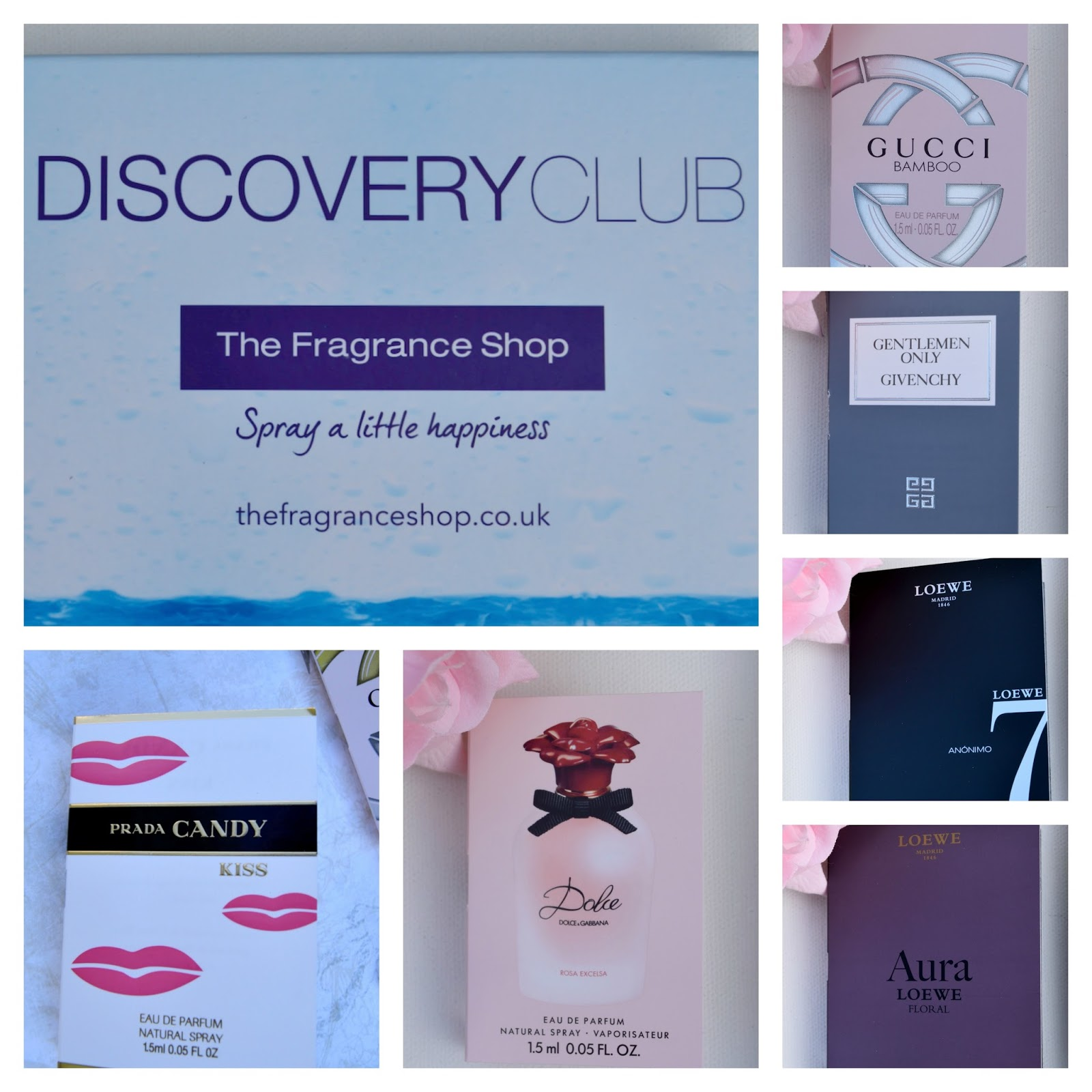 a picture of The Fragrance Shop Discovery Club Spring 2016 box