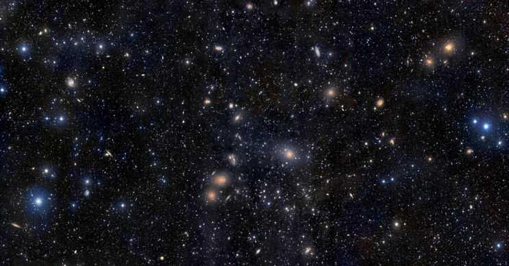 Evrendeki bu galaksi kümesinde yaklaşık 200 milyar kadar galaksi var.