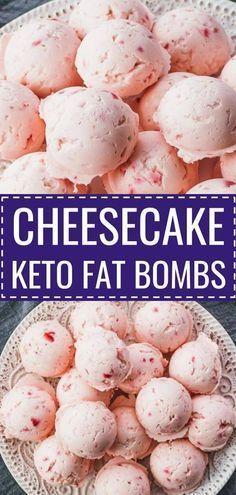 CHEESECAKE KETO FAT BOMBS