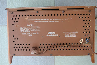 Vintage Zenith Model K731 tube FM radio (sold) K731%2Brear