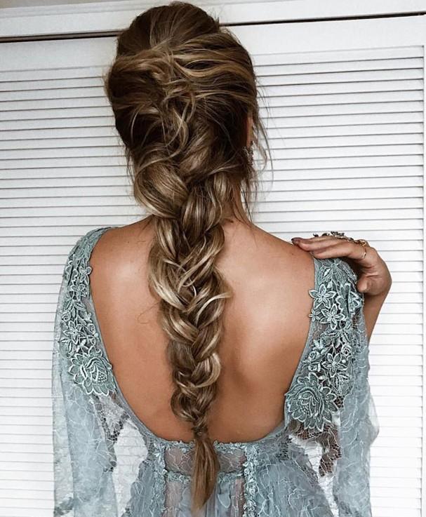 penteado de festa trança thássia naves