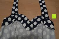 innen: VKStar® Vintage 50er 60er Tupfe Neckholder Retro Cocktailkleid Rockabilly Audrey Hepburn Swing Kleid Kurz Damen Abendkleid