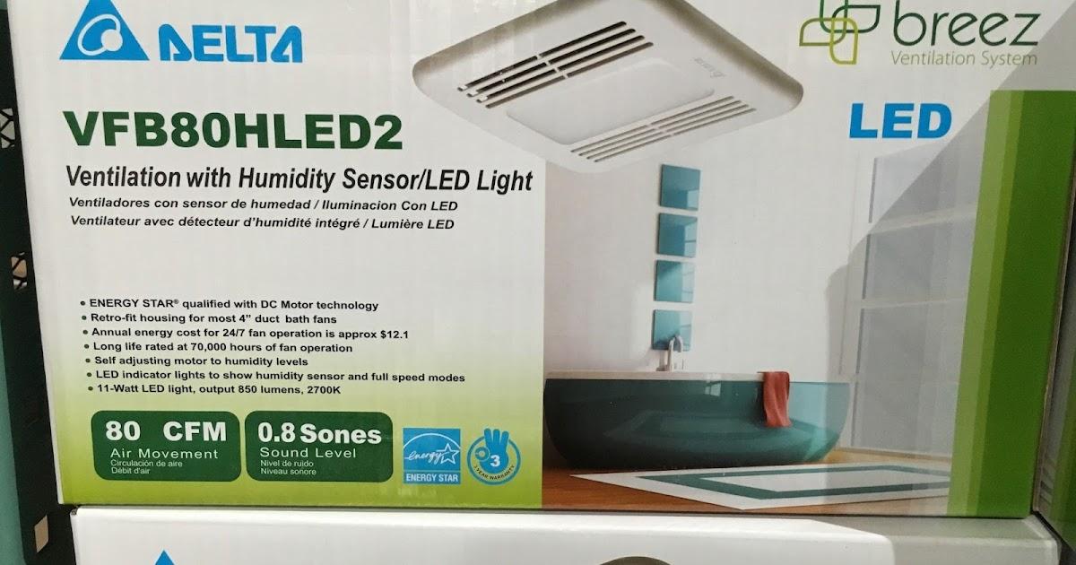 Delta Breez Bathroom Fans Sig80mled Breezsignature 80 Cfm: Delta Breez Ventilation System Bath Fan And LED Light